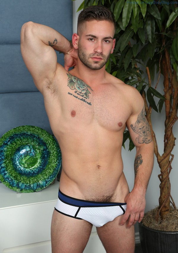 A Random Gorgeous Naked Jock Showing It All Off
