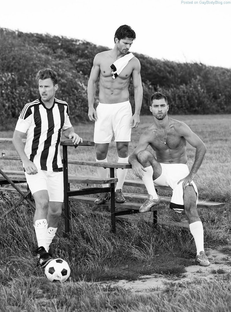 Sexy Footballers Showing Off Their Bods