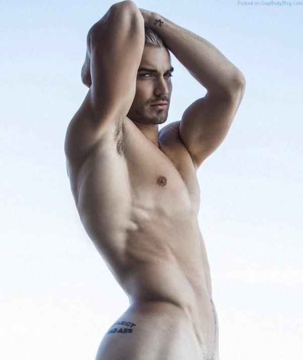 Modelo masculino desnudo Lucas Bloms para Rick Day