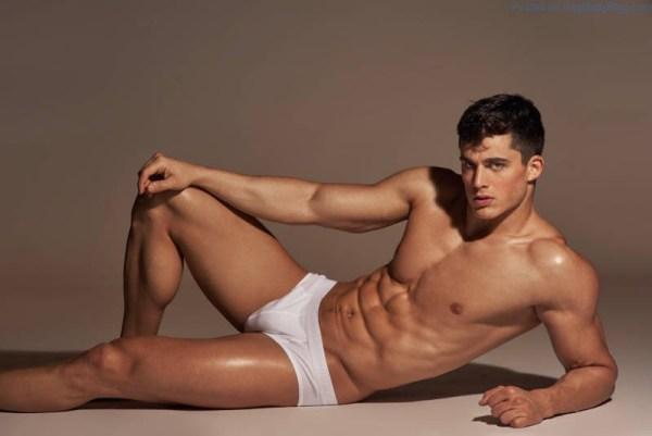 Pietro Boselli in white underwear