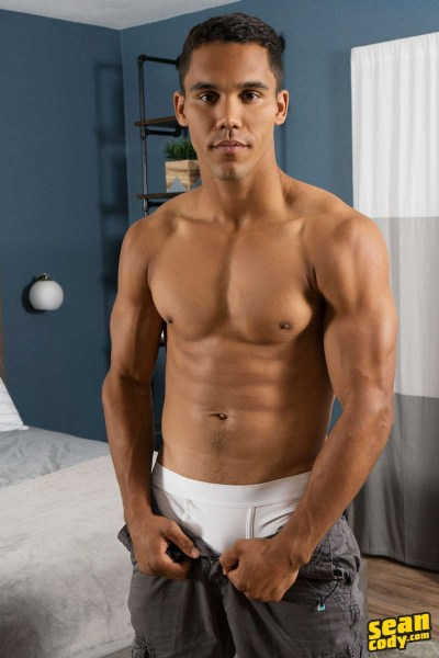 muscled jock Murray in white underwear