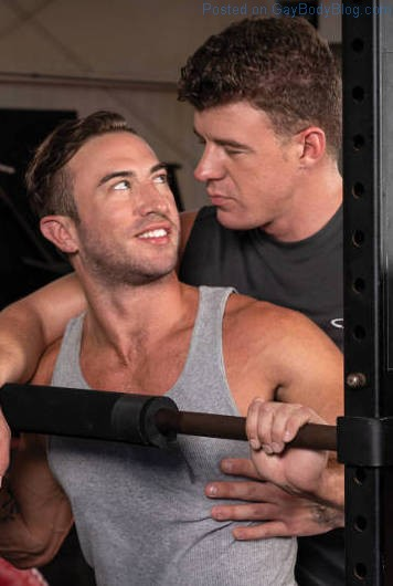 Gym Buddies Cum Facial! JJ Knight Owns Grant Ryan