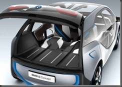 BMW i 3rear door open