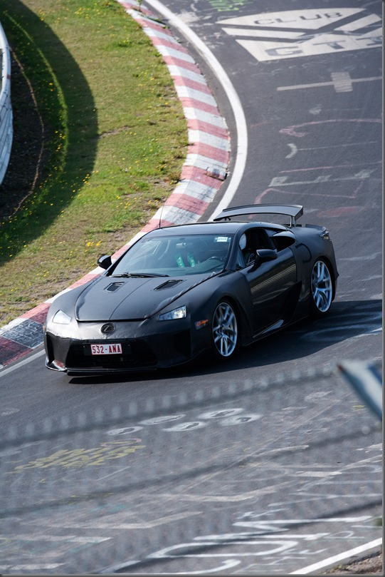 Lexus LFA undergoes testing at the Nurburgring