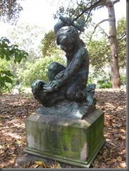 Swifts garden statue