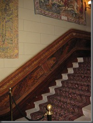 swifts the stair hall off the entry hall. Note the painted detail in the dado rail