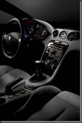 RCZ dash and console