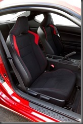 2012 Toyota 86 GT front seats