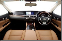 2012 Lexus GS 450h Sports Luxury interior (pre production model shown)