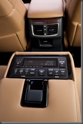 2012 Lexus GS 450h Sports Luxury rear climate controls (pre production model shown)