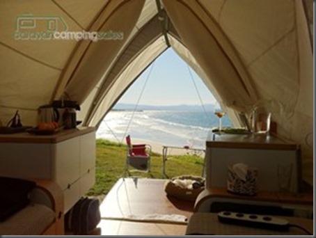 Opera Camper view to the beach