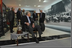 Sir Jack surveys the huge photograph of the start of the 1953