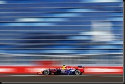 SOCHI, KRASNODAR KRAI - OCTOBER 10:  Sebastian Vettel of Germany and Infiniti Red Bull Racing drives during practice ahead of the Russian Formula One Grand Prix at Sochi Autodrom on October 10, 2014 in Sochi, Russia.  (Photo by Andrew Hone/Getty Images)