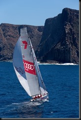 Wild Oats XI enters the Derwent River for the historic race win. A FrancoliniAudi GAYCARBOYS (2)