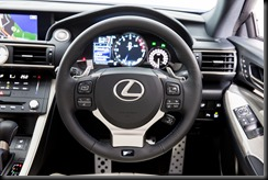 2015 Lexus RC F steering wheel