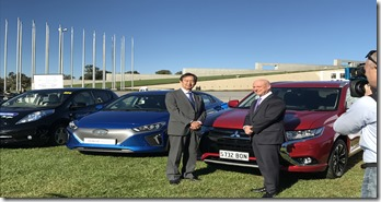 Mitsubishi- CEO- Mutsuhito- Oshikiri-and-AGL- Managing -Director- &-CEO-Andy-Vesey- AGL-vehicle-lobby-group-launch-1