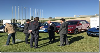 Mitsubishi- CEO- Mutsuhito- Oshikiri-and-AGL- Managing -Director- &-CEO-Andy-Vesey- AGLvehicle-lobby-group-launch-1