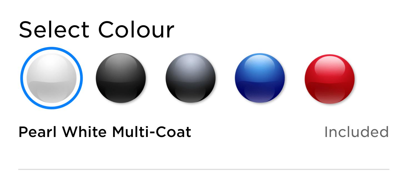 Tesla Paint Color Options
