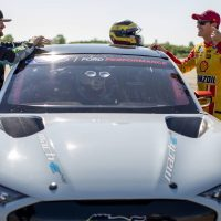 Joey Legano, Mustang Mach-E In Nascar Cup Series Broadcast