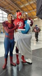 Spider Flash and Superman