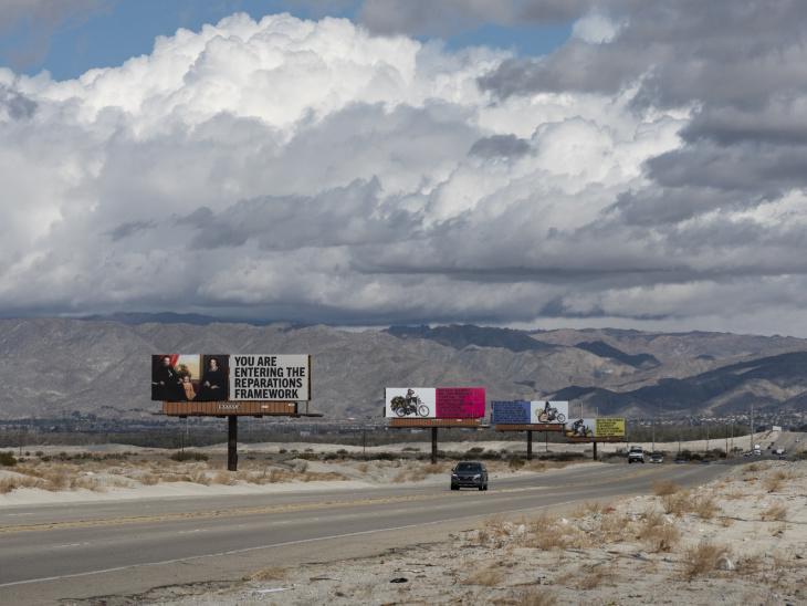 Desert X Xaviera Simmons Billboards 2021