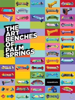 Art Benches Palm Springs Poster