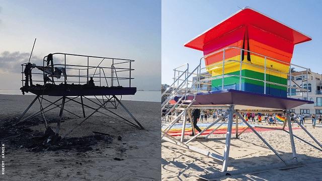 Pride Lifeguard Station Long Beach