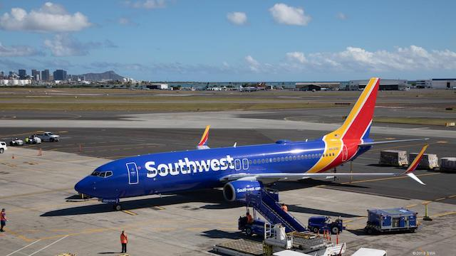 Southwest Airlines Plane Parked