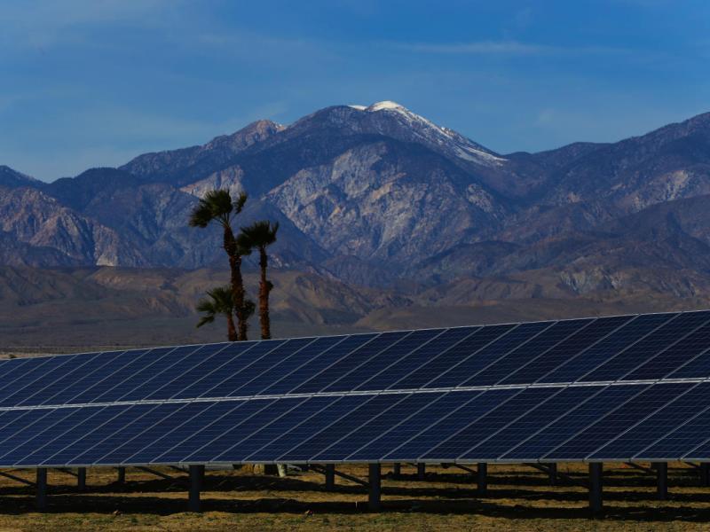 Solar Panels Mountains