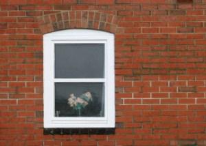 Window on brick wall
