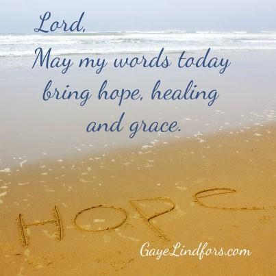 My words - hope