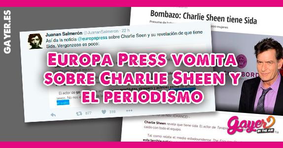 Europapress vomita sobre Charlie Sheen y el periodismo