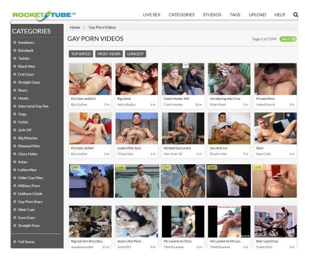 las mejores paginas videos porno gay
