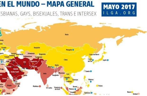 2- Leyes sobre orientación sexual en el mundo - Mapa general | Fuente Img. ilga
