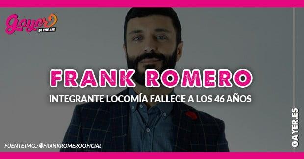 FRANK ROMER INTEGRANTE DE LOCOMÍA