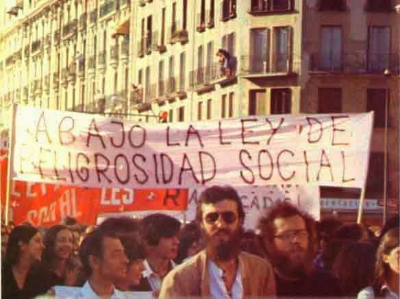 manifestacion contra ley de peligrosidad social
