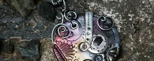 Steampunk Clay Pendants