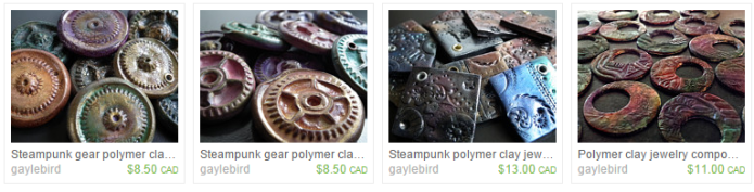 buy polymer clay components from gayle bird