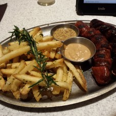 OMG local sausages and look at those damn fries!