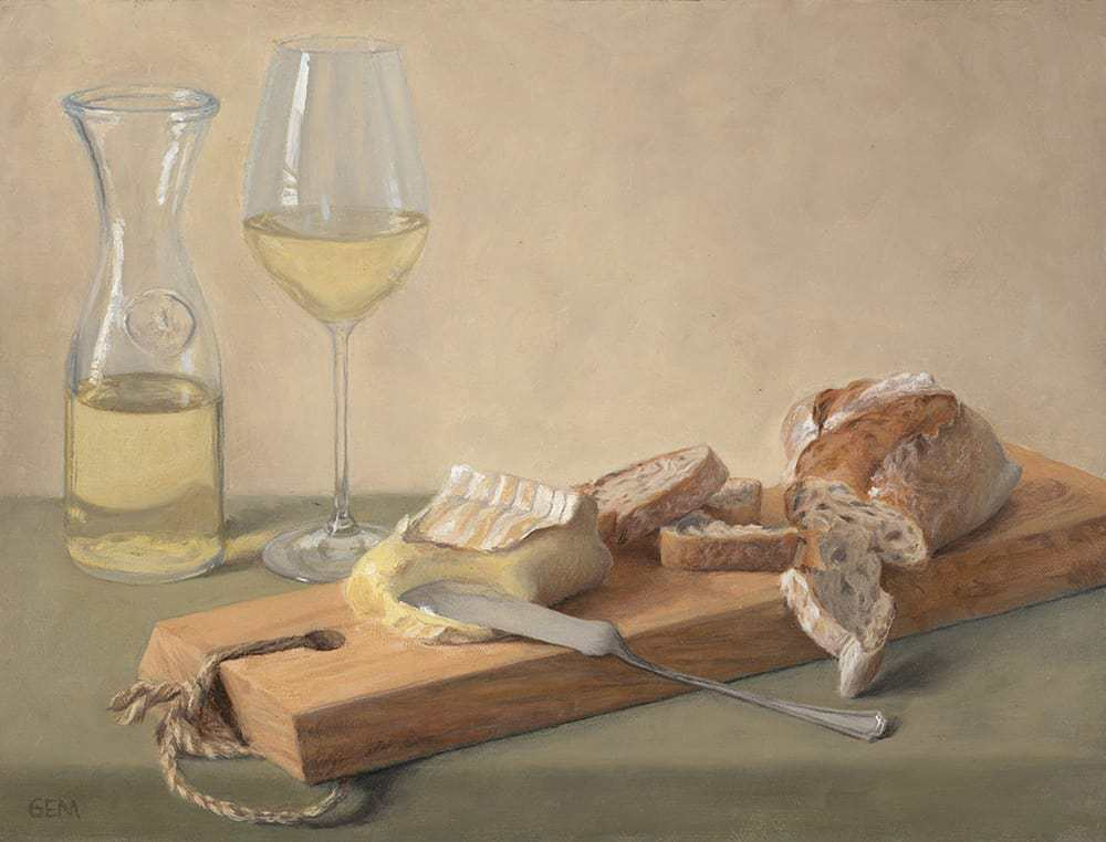 """""""Perfect Supper"""" Oil on linen panel, 12""""x16"""", painted in 2018 - AVAILABLE"""