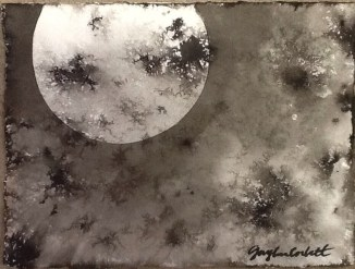"""""""Lunar Experiment #1"""" - 5x7 - Ink on paper - SOLD"""
