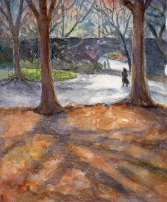 """""""Wandering in the Park""""- 8x10 - Watercolor"""