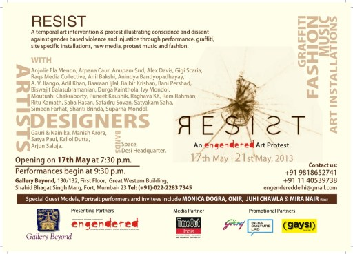 b- Art Resist MUMBAI Card (Back)
