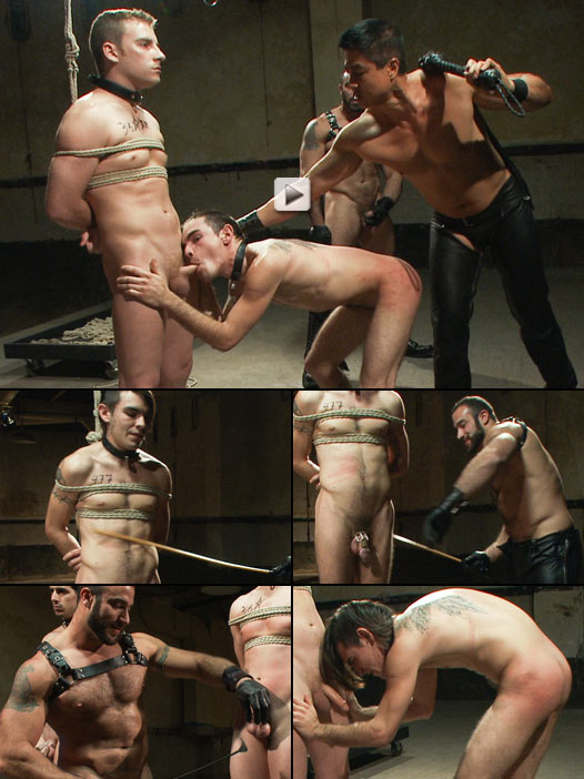 Callously cruel Spencer Reed flogs and canes three slave boys