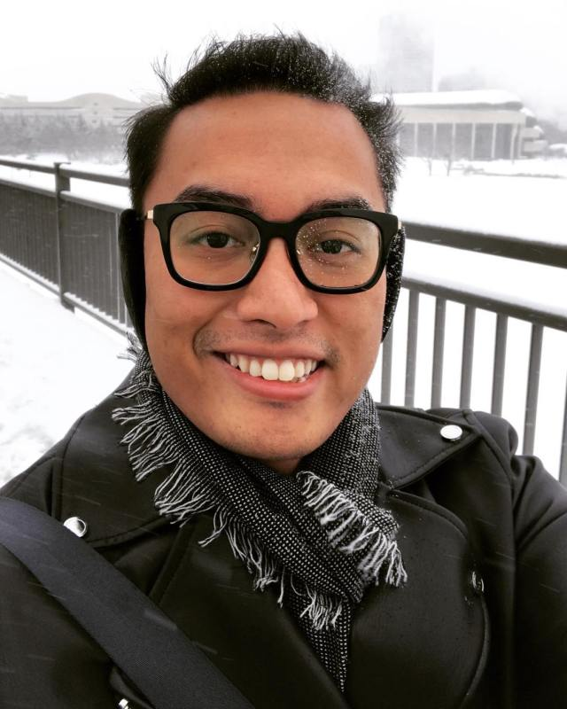 Selfie of Zulfikar Fahd in the snow