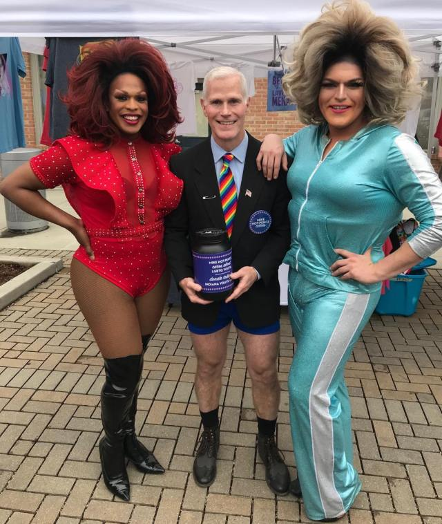 Mike Hot Pence at Columbus Pride