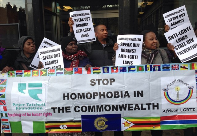Edwin Sesange's group protest ahead of CHOGM.