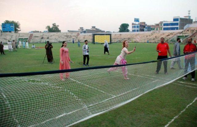 Trans people playing badminton