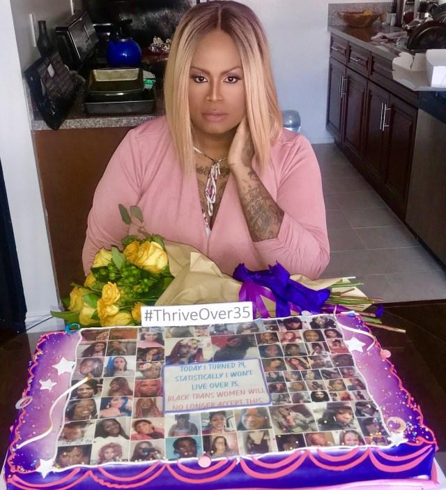 Ashlee Marie Preston and the cake