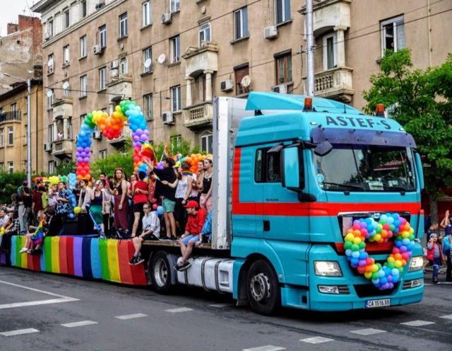A float at Sofia Pride